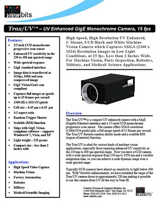 Trax UV Datasheet